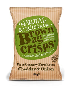 Westcountry Farmhouse Cheddar & Onion (150g) - Brown Bag Crisps