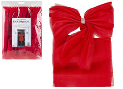 Luxury DIY Door Bow In Opp Bag With Insert Red Colour