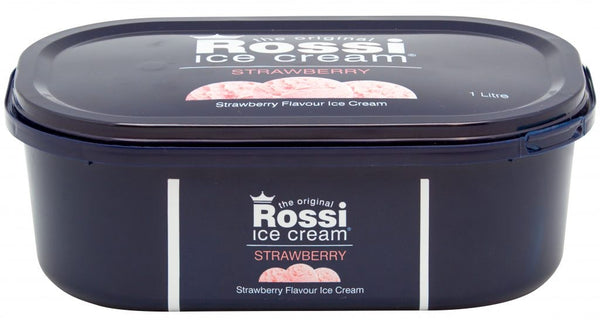 Strawberry Ice Cream - Rossi (1 Litre)