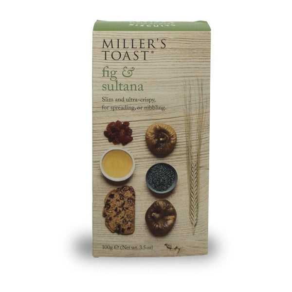 Fig & Sultana Miller's Toast (100g Box)