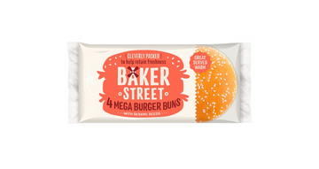Mega Burger Buns with Sesame Seeds (4 Pack)