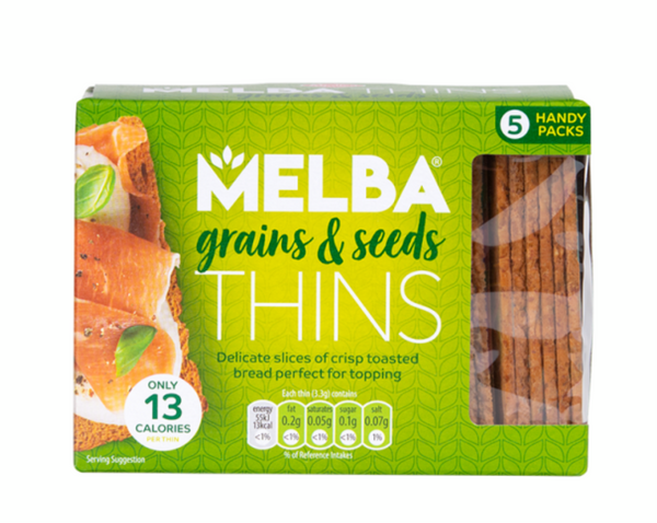 Melba Thins - Grains & Seeds (100g) - Van Der Meulen