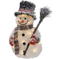 50cm bo lit snowman with broom