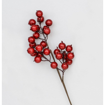 Large Red Berry Spray - 61cm