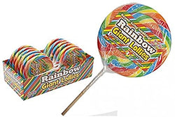 Rainbow Candy Swirl Lollipop on Wood Stick