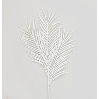 Glitter Palm Leaf White- 84cm