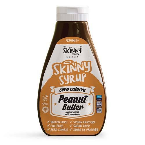 Peanut Butter #NotGuilty Zero Calorie Sugar Free Syrup - The Skinny Food Co - 425ml