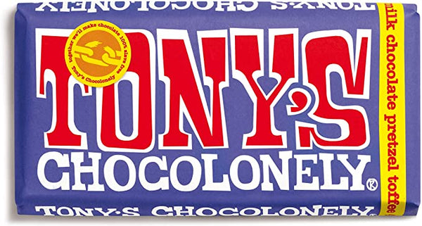 Milk Chocolate, Pretzel & Toffee (180g) - Tony's Chocolonely