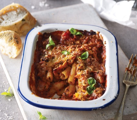Chicken & Tomato Pasta Bake (Serves 1) - Cook
