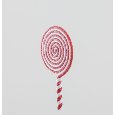 Hanging Lollipop Red/White- 20cm