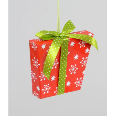 Gift w/Ribbon Decoration - 16cm