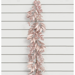 Rose Glitter Leaf/Ball Garland - 6ft