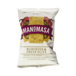 Manchego & Green Olive Corn Chips (160g) - Manomasa