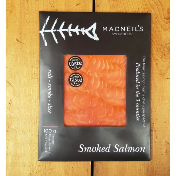 Sliced Smoked Salmon 100g - Macneil's Smokehouse