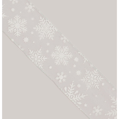 Sheer/Snowflake Ribbon - 10Yx2.5""