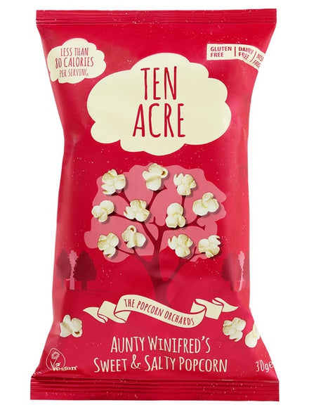 Sweet and Salty Popcorn (28g) - Ten Acre