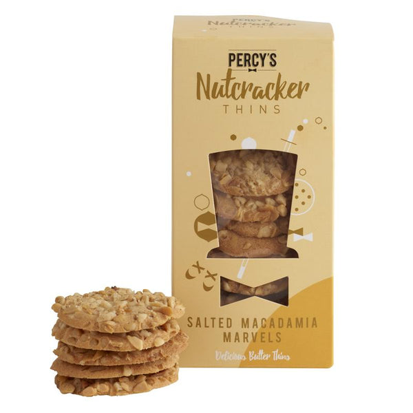 Salted Macadamia Marvels - Nutcracker Thins - Percy's