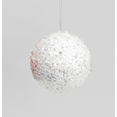 Sequin Ball Decoration White
