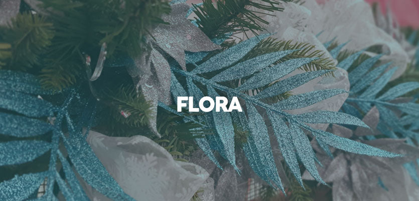 Forest Blue Flora Christmas Decorations