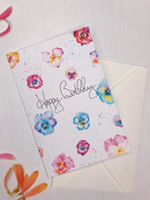 Load image into Gallery viewer, Birthday Pansies