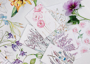Mixed floral mini cards