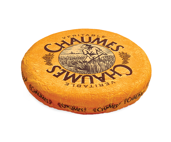 Chaumes Imported France Plastic Wrapped Cheese Wheel  4 Pounds per Wheel - 2 per Case