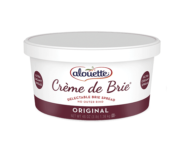 Alouette Plain Creme De Brie Spreadable Cheese  3 Pound Tub - 2 per Case