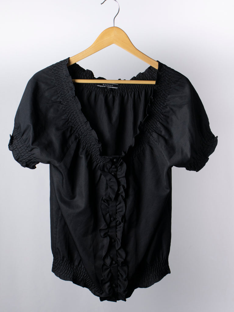 Basque Black Top - Size 10