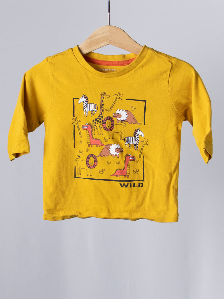 Favourites Yellow Animals T-Shirt - Size 0