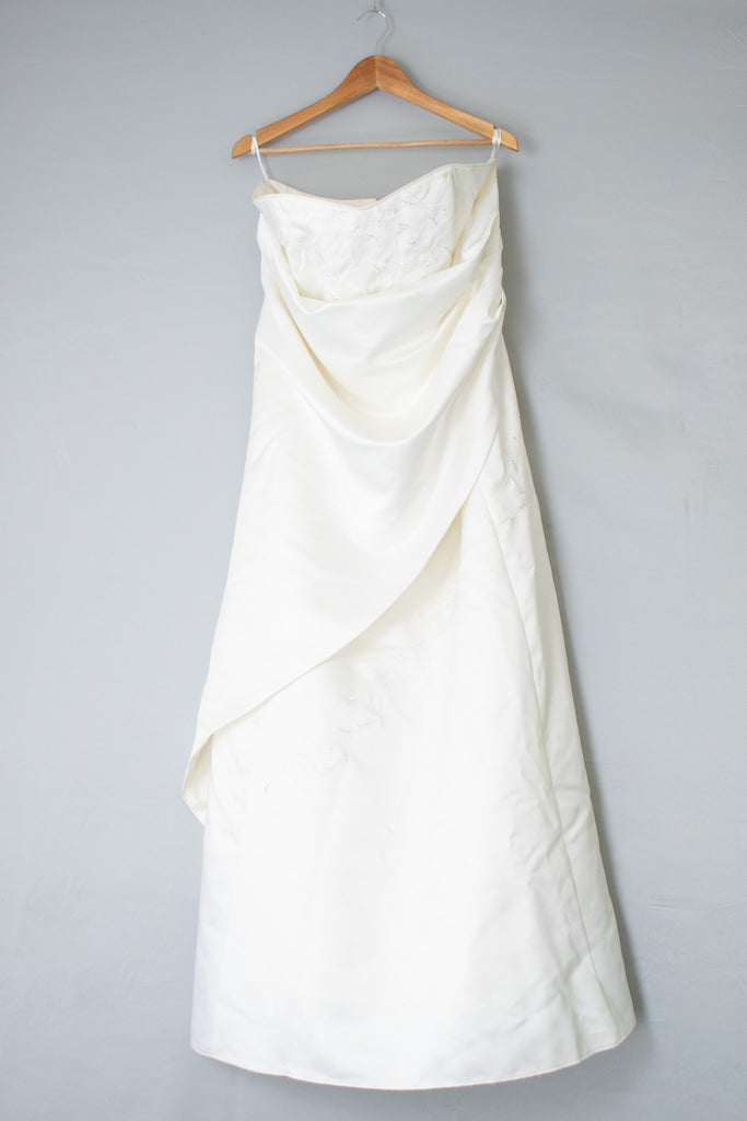 White Wedding Dress- Size L/XL