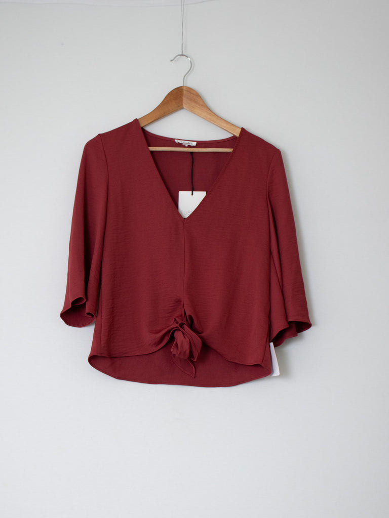 Tussah Red Top - Size 6