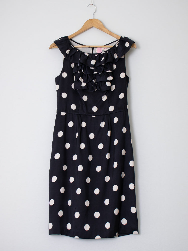 Allanah Hills Black Polka Dot  Dress- Size 10