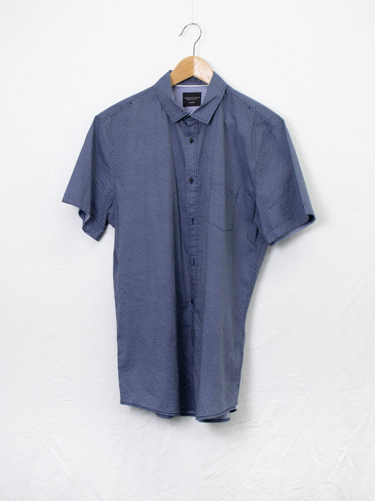 Industrie Navy Pattern Shirt - Size L