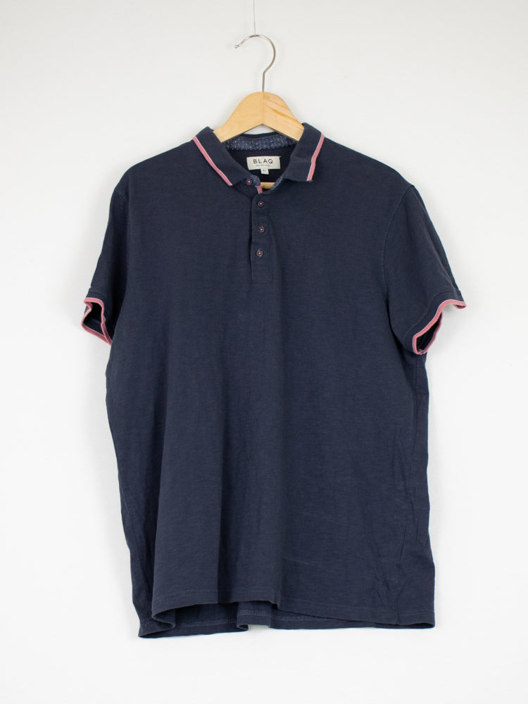 BLAQ Navy Blue Polo - Size XL