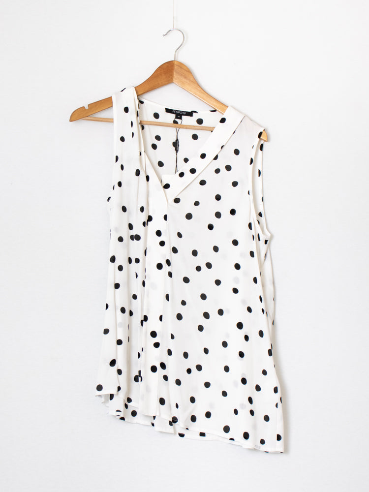Pingpong White Dotted Top