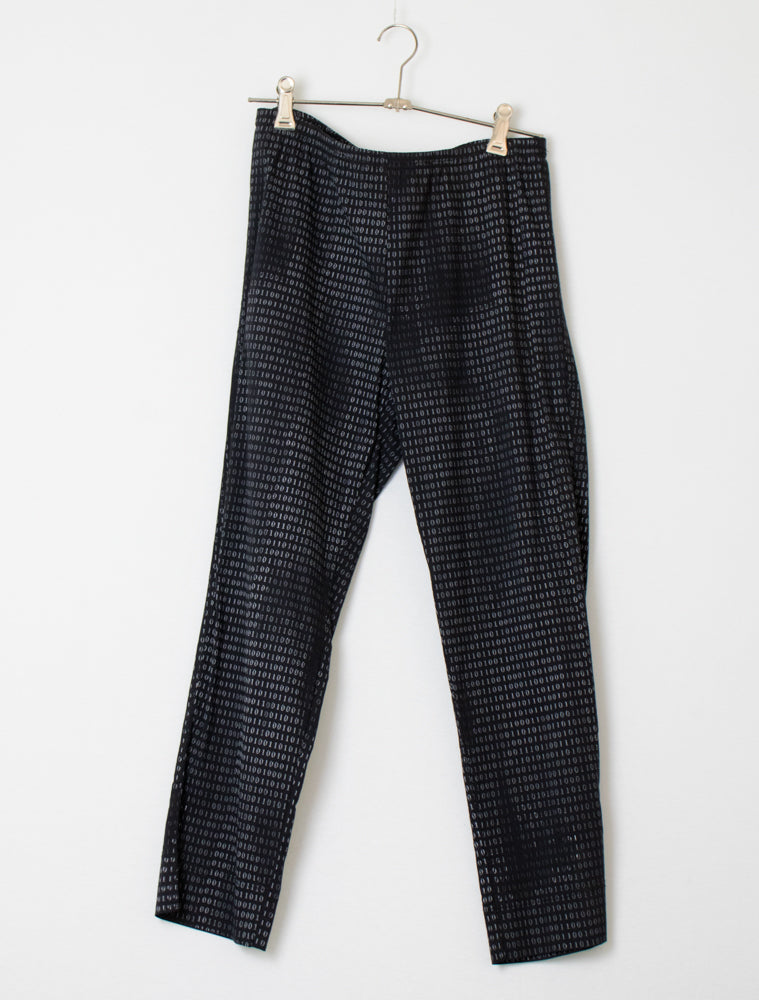 Verge Black Printed Pants