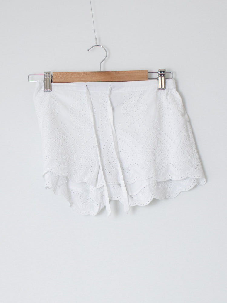 Gingerlilly White Cotton Shorts - Size S