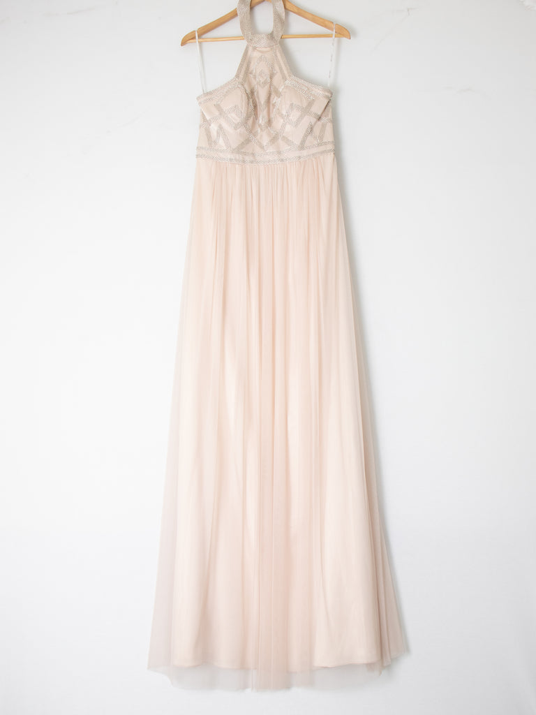 George Dusty Pink Embroided Dress - Size 10