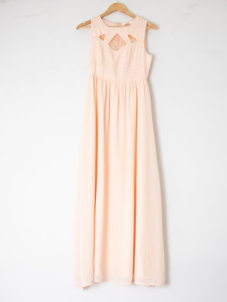 Luvalot Dusty Pink  Maxi Dress - Size 8