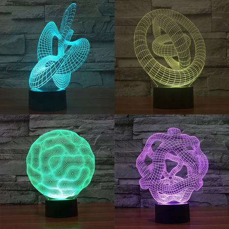Lampe Led 3D Abstrait