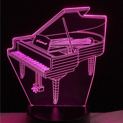 Lampe Led 3D Piano