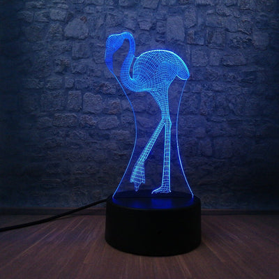 Lampe Led 3D Flamant rose