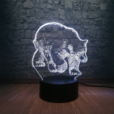 Lampe 3D Ours