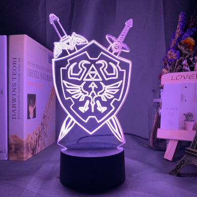 Lampe 3D LED The Legend of Zelda Épées et Bouclier