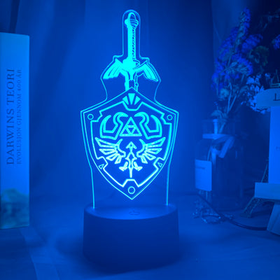 Lampe 3D LED The Legend of Zelda Épée et Bouclier