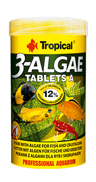 3-Algae Tablets A- Adhesive tablets for all fish (5 mm tablets)50ML/36G - Nature Aquariums