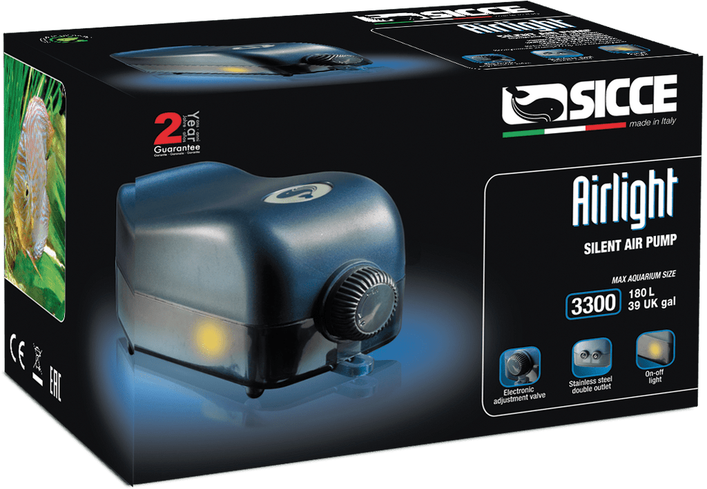 Sicce Airlight Aquarium Air Pump - Nature Aquariums
