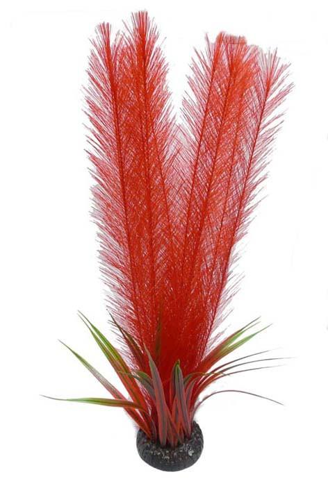 "20"" Feather Fern & Rush (Red) - Nature Aquariums"
