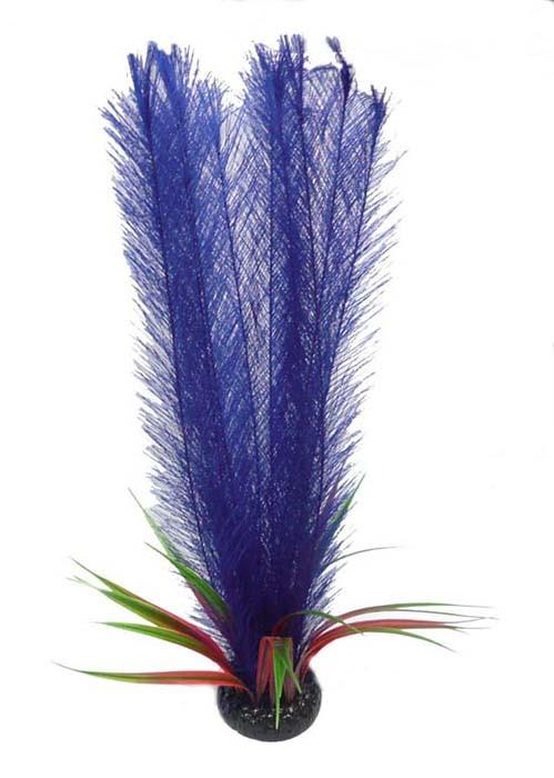 "20"" Feather Fern & Rush (Purple) - Nature Aquariums"