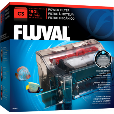 Fluval C3 Hang On Filter - up to 190 litre - Nature Aquariums